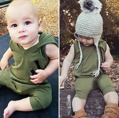 Casual Clothes For Girls (Sleeveless Newborn Baby Boys Girls Casual Hooded Romper Jumpsuit Outfit)