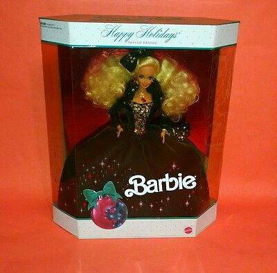 Happy Holidays SPECIAL EDITION 1991 Barbie Doll GREEN VELVET DRESS Sealed Box