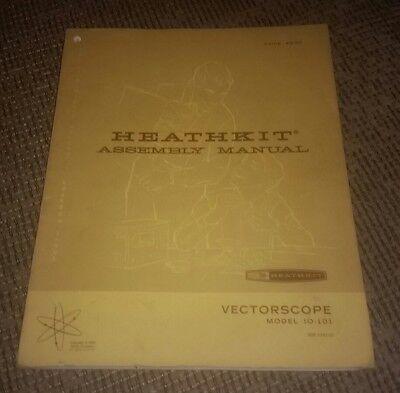 Heathkit Vectorscope Io-101 Assembly Manual Vintage.book.vector Scope.electronic