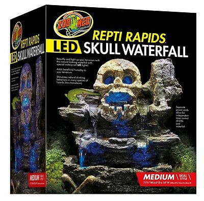 Zoo Med Repti Rapids LED Waterfall  Medium Skull