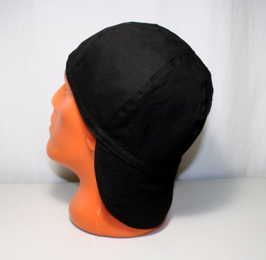 N-17 Black/Gray Welders Hats, Bikers Caps, Welding Cap Hat,