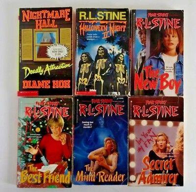 RL Stine Fear Street Halloween Night II +Diane Hoh Nightmare Hall lot of 6 books