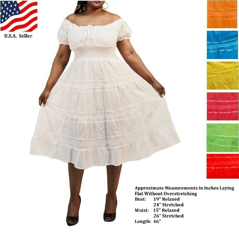 sundress plus size boho mexican peasant one