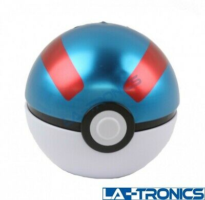 Pokemon TCG Blue Poké Ball Tin 3 Booster Pack Trading Cards + 1 Coin