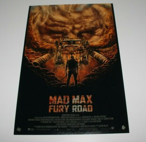 ACTRESS CHARLIZE THERON SIGNED MAD MAX FURY ROAD 12x18 MOVIE POSTER w/COA