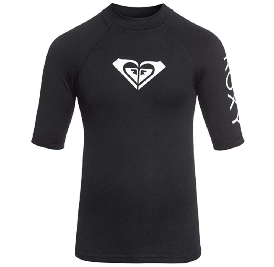 Roxy Women's Whole Hearted Short Sleeve Rashguard # Medium