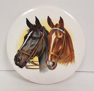 Vintage Kitchen Decor Roman MCM Art Mid Century Gladiator Horse and Chariot Tile and Wood Trivet