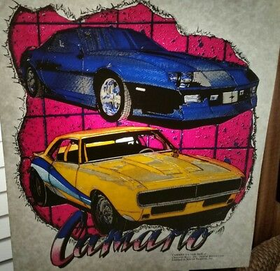 Vintage Retro Camaro Heat Press Transfer Lot Of 2