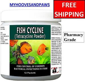 Antibiotics tetracycline fish cycline 250mg powder 12 for Tetracycline for fish