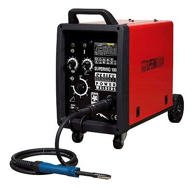 Sealey Super Mig 180 Welding Machine MIG Welder 180A 230V with Binzel Euro Torch