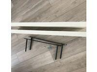 2 IKEA Lack floating shelves, white
