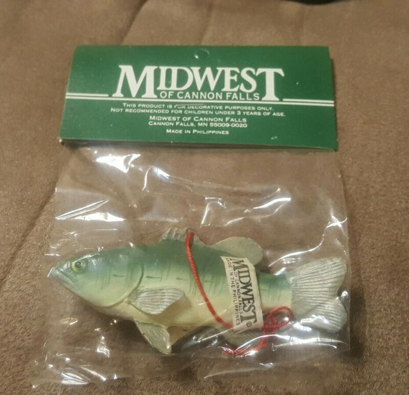 Large Mouth Bass , Fishing Christmas Ornament Midwest of Cannon Falls