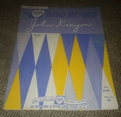 B-flat Clarinet Music Book - THE MPG BAND METHOD B FLAT CLARINET book by John Kinyon MUSIC INSTRUCTION BOOK