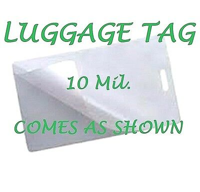 500 Luggage Tags Laminating Pouches Sheets Wslot 2-12 X 4-14 10 Mil Gloss
