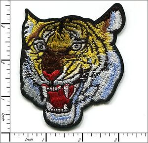 5 Pcs Embroidered Iron on patches Tiger Head 7x8.5cm AP053aB