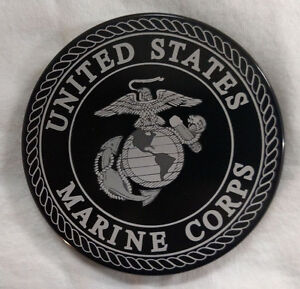 U.S. MARINE CORPS, Billet Aluminum Hitch Cover, Black 4