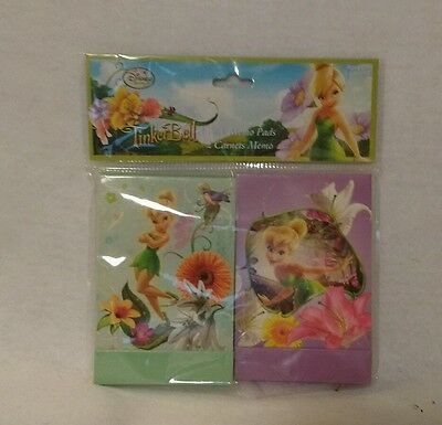 Memo Pads--Tinker Bell-- Small  4 1/2 x 2 1/2  inches-- NEW-- set of 2