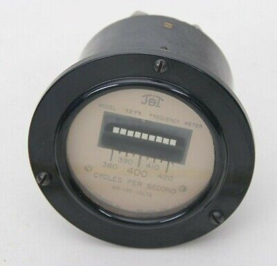 Vintage Jbt Frequency Meter Model 33-fx 380-420 Cycles Per Sec 100-130 Volts