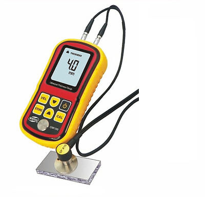 (Digital Wall Stainless Steel Metal Thickness Gauge Meter Tester Ultrasonic GM100)
