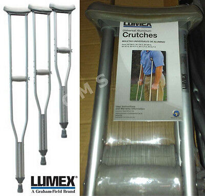 Graham Field LUMEX Universal Aluminum Crutches Lightweight P