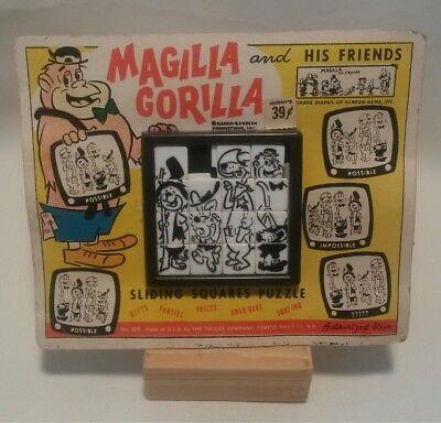 ☆ VINTAGE 1960'S ROALEX MAGILLA GORILLA SLIDE PUZZLE ON ORIGINAL CARD STOCK