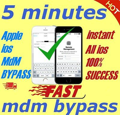 APPLE MDM BYPASS IPHONE /IPAD /IPOD ALL  iOS 13.3.X SUPPORTED [INSTANT]