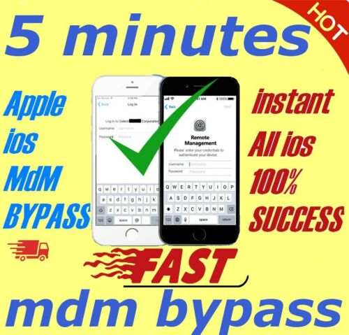 APPLE MDM BYPASS IPHONE /IPAD /IPOD iOS 14  SUPPORTED