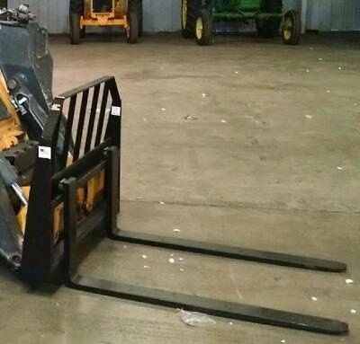 Pallet Forks Frame New Ie- Fork Skid Steer Bobcat Quick Attach 48