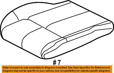 Jeep CHRYSLER OEM Grand Cherokee Front Seat-Cushion Bottom Cover 1JG991J8AA