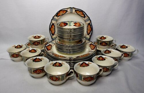 WOOD & SONS England china NILE 2788 pattern 57-piece SET SERVICE for 12+/-