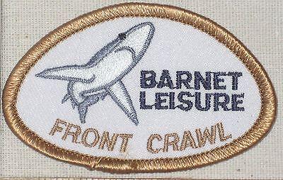 "Barnet Leisure Front Crawl Shark Patch - UK - 2 7/8"" x 1 3/4"""
