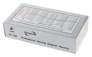 Dynavox-TC-750-PREAMPLIFICATORE-FONO-PHONO-PREAMPLIFICATORE-ARGENTO-TC750