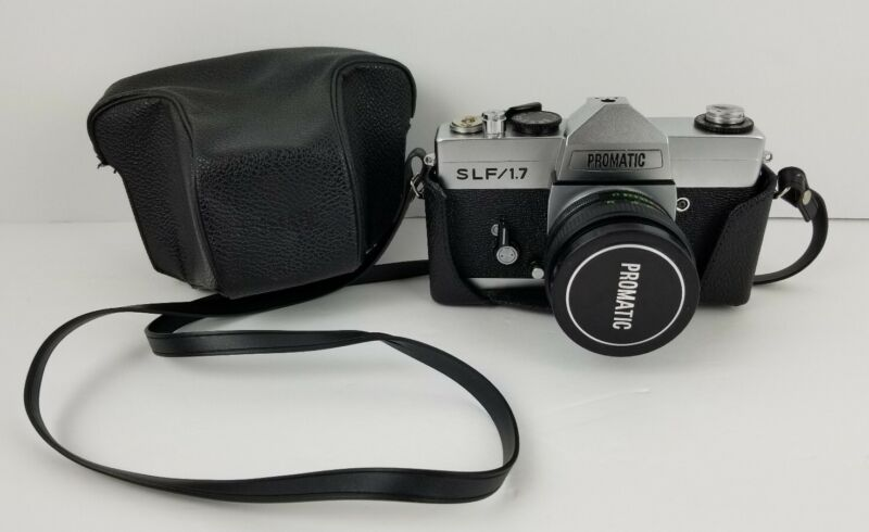 Promatic SLF/1.7 Vintage Silver Film Camera With Carrying Case