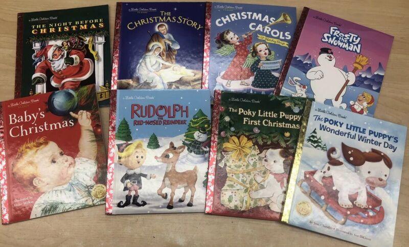Set Of 8 Christmas Little Golden Books- New! Huge Savings!