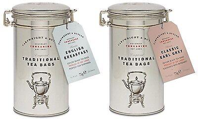 Cartwright & Butler classico inglese colazione o Earl Grey tè 30 bustine tè