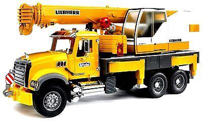 Bruder MACK Granite Liebherr Crane Truck 02818 Kids Play NEW