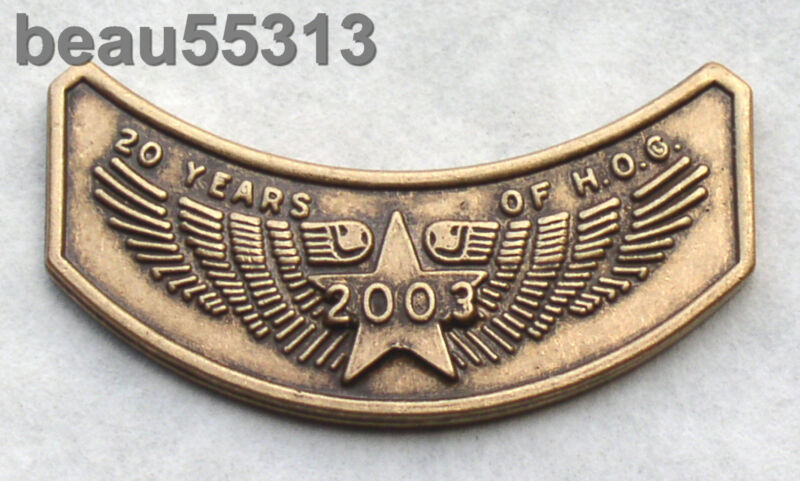 HARLEY OWNERS GROUP HOG 100th 20th ROCKER 2003 VEST JACKET HAT PIN 03