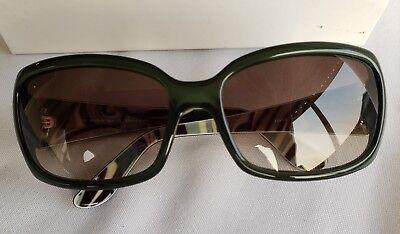 4ce9a85121 Emilio Pucci Women Sunglasses Rectangle COA Translucent Green Brown Lens  EP677S