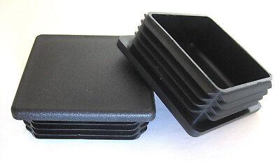 10 - 2 Square Black Plastic Plug End Cap Fence Post Pipe Tube 2x2 Tubing