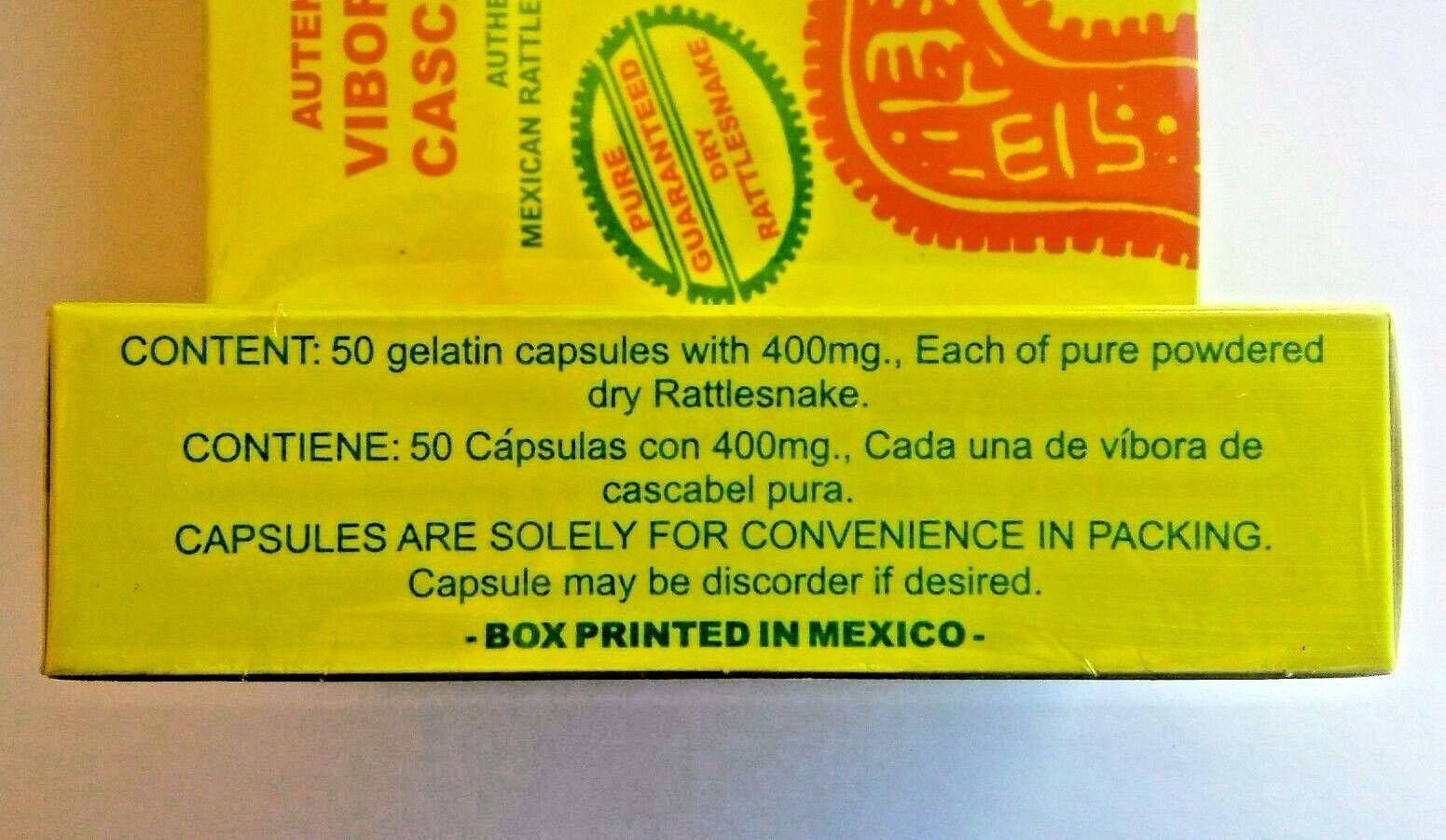 3 Rattlesnake Vibora de Cascabel 150 Capsules + 3 Jabon Vibora Cascabel 4.93 oz 9