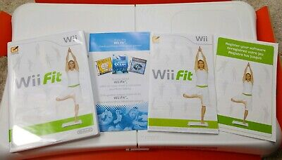 Nintendo Wii Fit Board And Wii Fit Game Complete Clean and Tested Yoga Balance