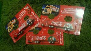 3x Coca Cola XMAS lorry coke truck HO train scale santa village display