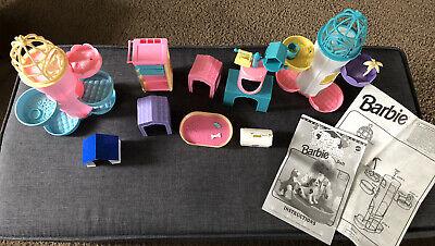 Barbie - Pet Shop Vintage 1996 Accessories And Pet Doctor Both Incomplete Sets