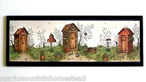 About Outhouse Rustic Country Bath Wall Decor Outhouses Sign Primitive