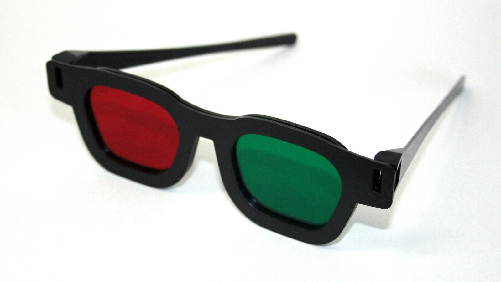 Rot Grün Brille aus Kunststoff für Optiker NEU