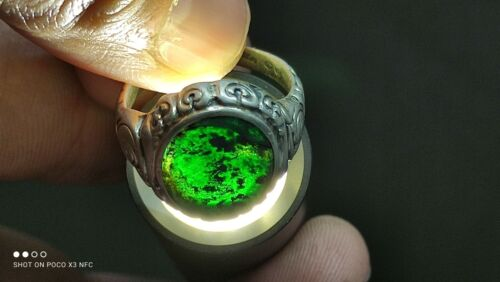 Beautiful German antique silver ring with a stone of 835 assay value.
