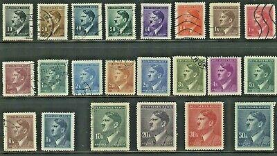 1942 Bohemia and Moravia. SC# 62- 83 (A21) Adolf Hitler. Used, No Gum.