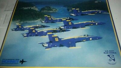 Blue Angels Airplane (Blue Angels/Stunt/Precision Flying/Airplane Poster/Military Fighter Jets)
