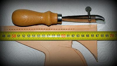 Sattler Werkzeug für Leder Reifeleisen mit Stellschraube