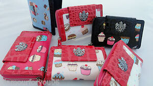 LYDC-Ladies-Designer-Moc-Croc-Cupcake-Flapover-Photo-Slot-Clutch-Wallet-Purse-BN
